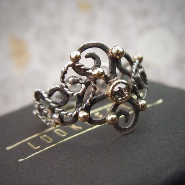 pierścionek art nouveu