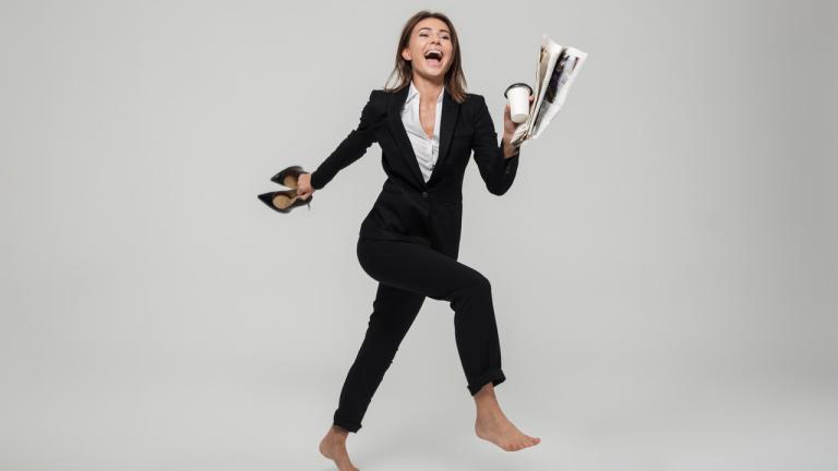 szczęśliwa bizneswoman